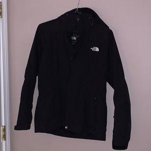 The North Face 3-1 black ski coat w/ puffer coat